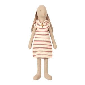 Maileg Hase Seglerin mit gestreiftem Kleid, Gr. 4 - 53cm