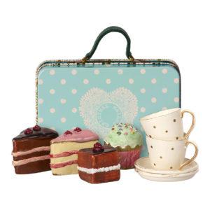Maileg Kuchen- und Tassen-Set mit Metallkoffer