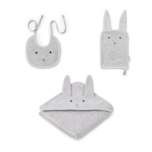 """Liewood Adele Baby Geschenkset """"Rabbit dumbo grey"""""""