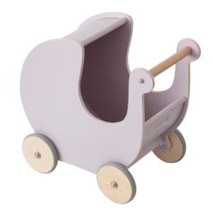 "Sebra Puppenwagen ""morning cloud pink"" aus Holz"