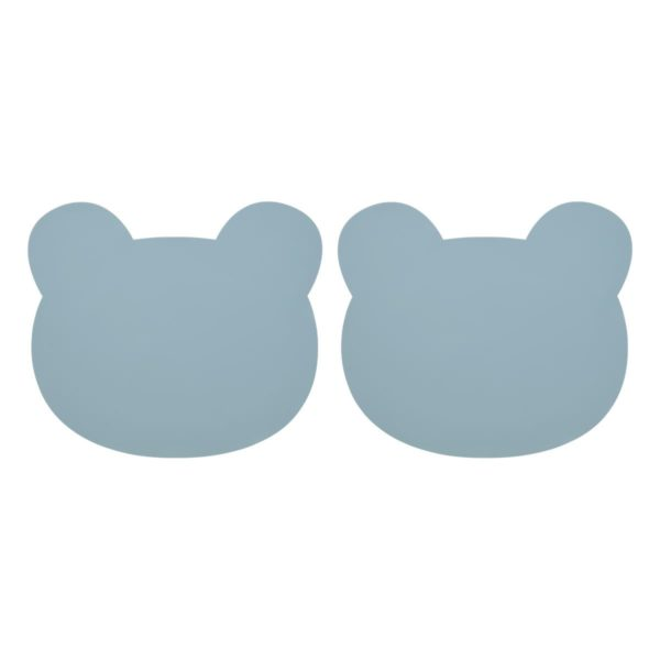 "Liewood Gada Silikon-Tischset ""Mr. Bear sea blue"", 2er-Set"