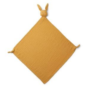 """Liewood Robbie Musselin Kuscheltuch """"Rabbit yellow mellow"""", 60x60cm"""