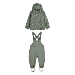 "Liewood Dakota Regenbekleidung ""Panda faune green"" vorn"
