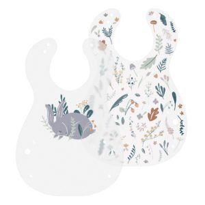 Sebra Kunststoff Lätzchen, 2er Set, Daydream