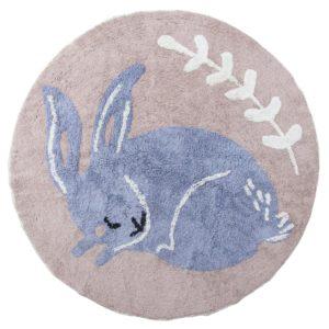 "Sebra Teppich ""Bluebell das Kaninchen"""