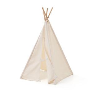 Kids Concept Mini-Tipi Zelt in weiß, 75cm offen