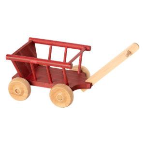 Maileg Bollerwagen aus Holz, dusty red, H5cm