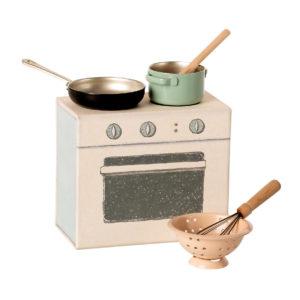 Maileg Koch-Set, Küche für Mäuse, H8cm