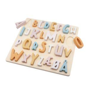 """Sebra ABC-Puzzle aus Holz """"Cotton Candy Pink"""""""