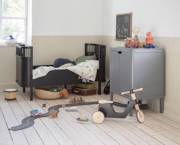 """Sebra Bett """"Black Wooden Edition"""" Babybett und Kinderbett"""