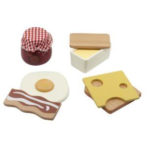Sebra Food, Frühstück aus Holz, 6er-Set
