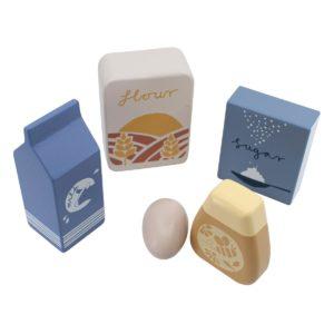 Sebra Food, Lebensmittel aus Holz, 6er-Set