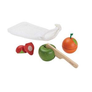 PlanToys Früchte-Set im Beutel aus Holz 01