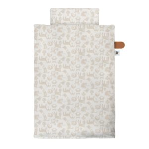 "Sebra Junior Bettwäsche ""Forest : straw beige"" – 135x100cm : 60x40cm"