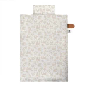"Sebra Junior Bettwäsche ""Forest : straw beige"" – 140x100cm : 45x40cm"