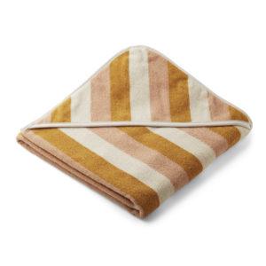 """Liewood Kapuzenhandtuch Louie """"Peach:sandy:yellow mellow"""", 100cm"""