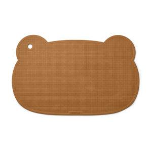 "Liewood Sailor Silikon Badematte ""Mr. Bear mustard"", 55x35cm 01"