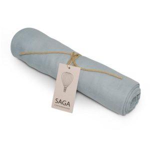 Saga Copenhagen Pucktuch Hula, Dream Blue, Musselintuch in Bio-Baumwolle, 100x100 cm