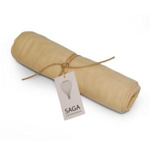 Saga Copenhagen Pucktuch Hula, Ginger, Musselintuch in Bio-Baumwolle, 100x100 cm