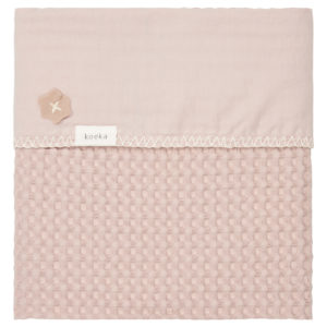 """koeka Babydecke Flanell Antwerp """"grey pink : grey pink"""" 75x100cm"""