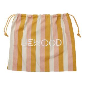 Liewood Stoffbeutel Stripe Peach sandy yellow mellow M (48x42cm) Geschenkverpackung