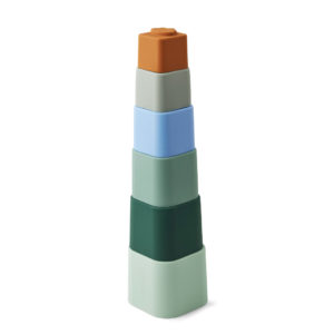 "Liewood Zuzu Stapelturm ""Dove blue multi mix"", Silikon 01"