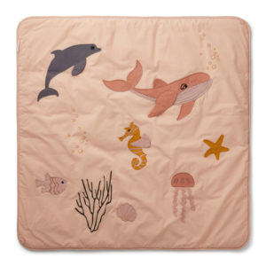"Liewood Activity-Decke Glenn ""Sea creature rose mix"", Bio-Baumwolle, 120x120cm 01"