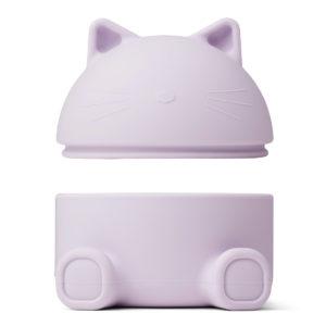 "Liewood Murphy Schmuckbox mit Deckel ""Cat light lavender"", Silikon, 14cm 03"