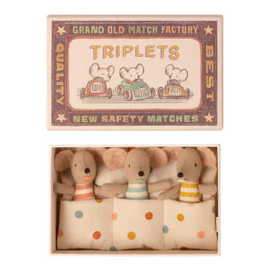 Maileg Baby Maus Drillinge in der Box