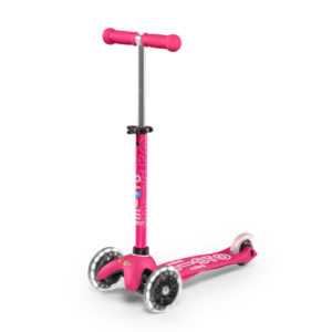 """Micro Mobility mini micro deluxe LED """"pink"""" 01"""