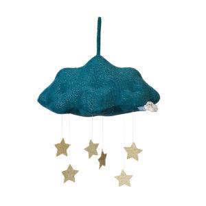 Picca Loulou Wolke mit Sternen, blau, H34cm 01