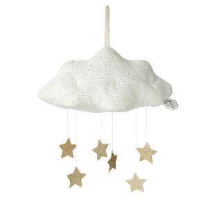 Picca Loulou Wolke mit Sternen, weiß, H34cm