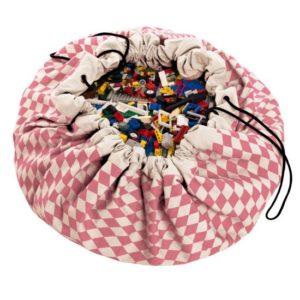 Play&GoSpielzeugsack Raute Pink (ø140cm)