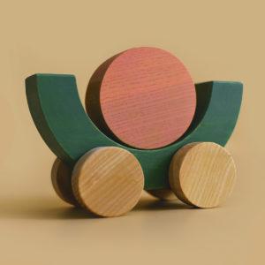 "BC2 MinMin Copenhagen ""Balancing Car"" aus Holz 03"