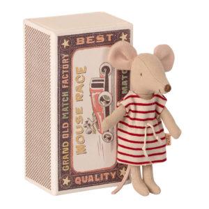 """Maileg Big Sister Maus in der Box """"mit Strandkleid"""" 01"""