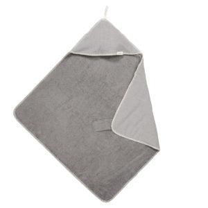 koeka Kapuzenhandtuch : Wickeltuch Cairo, steel grey, 100x100cm 01
