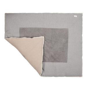 "koeka Krabbeldecke Cairo ""steel grey : clay"", 80x100cm 03"