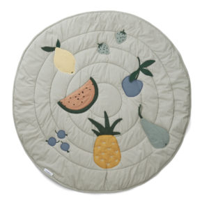 """Liewood Activity-Decke Gitta """"Fruit dove blue"""", Bio-Baumwolle, ø110cm 01"""