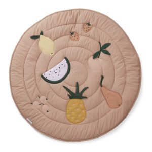 "Liewood Activity-Decke Gitta ""Fruit pale tuscany"", Bio-Baumwolle, ø110cm"