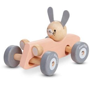 PlanToys Holzauto, Rennwagen mit Hase