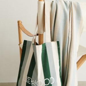 """Liewood Tote Einkaufstasche """"Stripe, Garden green, sandy, dove blue"""" 02"""