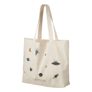 """Liewood Tote Stofftasche """"Space blue mix"""", groß, 54x37cm"""