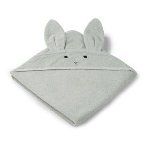 "Liewood Kapuzenhandtuch Augusta ""Rabbit dusty mint"""