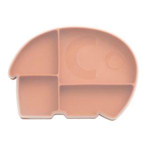 "Sebra Silikon Teller mit Deckel, Fanto der Elefant ""Toasted Orange"""